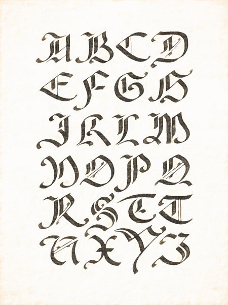Alphabets Old and New, Illustration 86, After G. F. Cresci, 1570, Reworked, Series 1