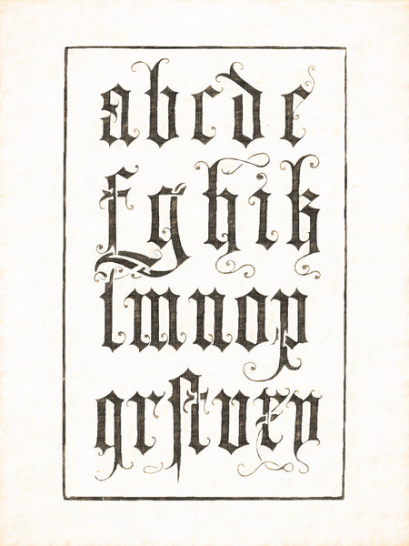 Alphabets Old and New, Illustration 89, Italian, Vicenti, 1523, Reworked, Series 1