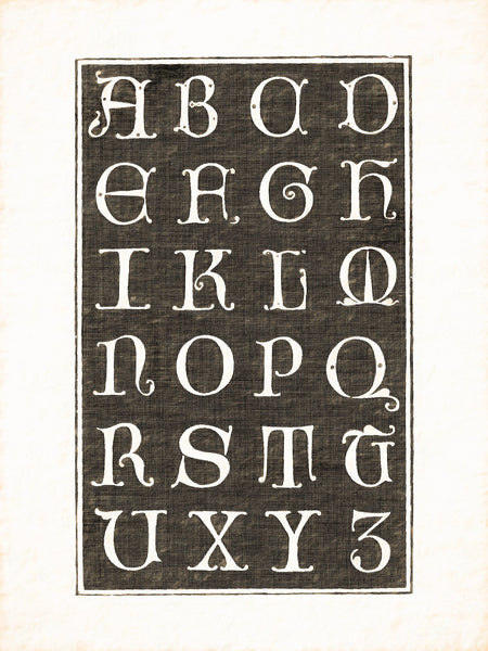 Alphabets Old and New, Illustration 93, Italian, G. F. Cresci, 1570, Reworked, Series 1