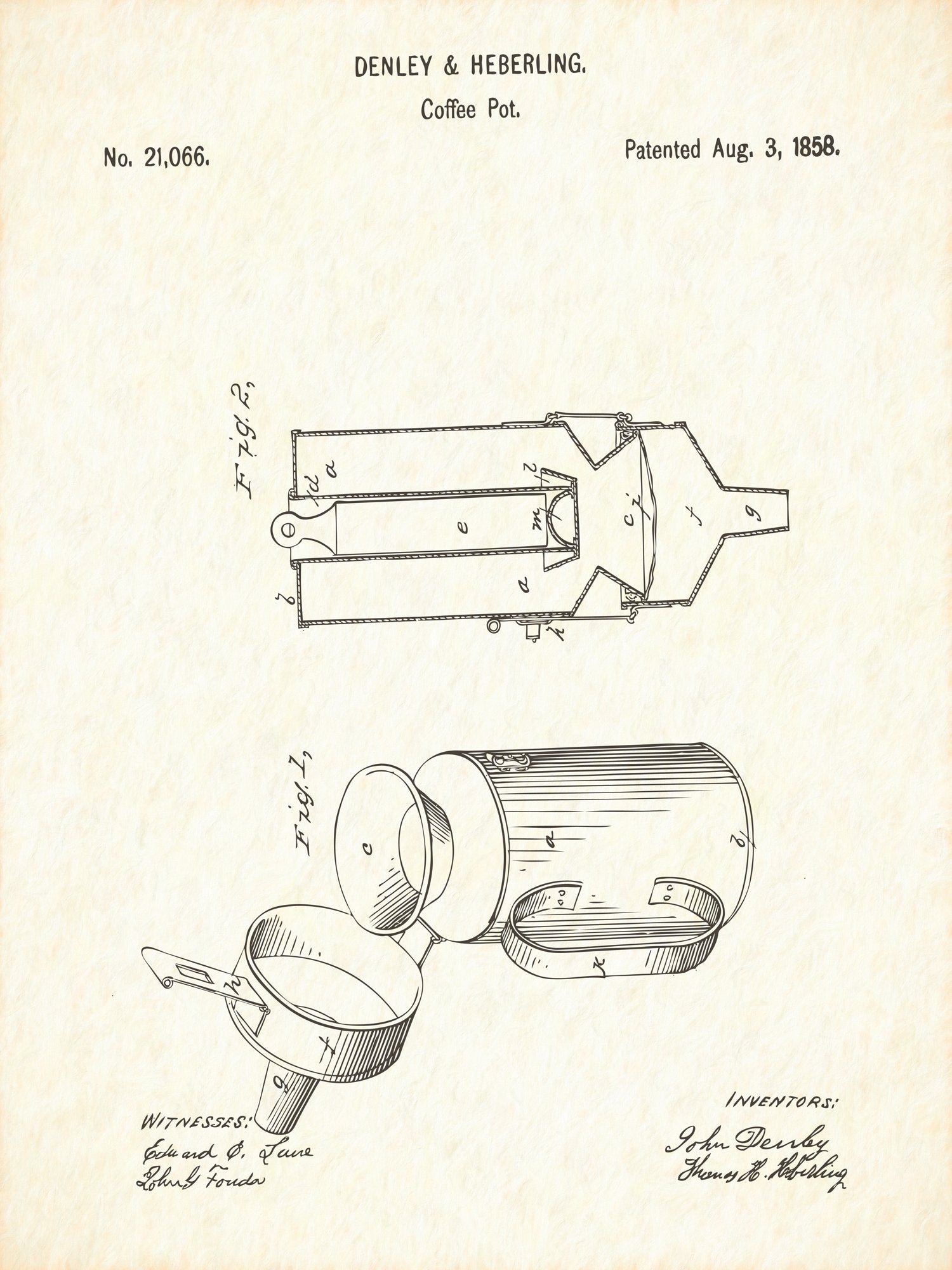 U.S. Patent No. 21066-1 Coffee Pot Reworked, Series 1