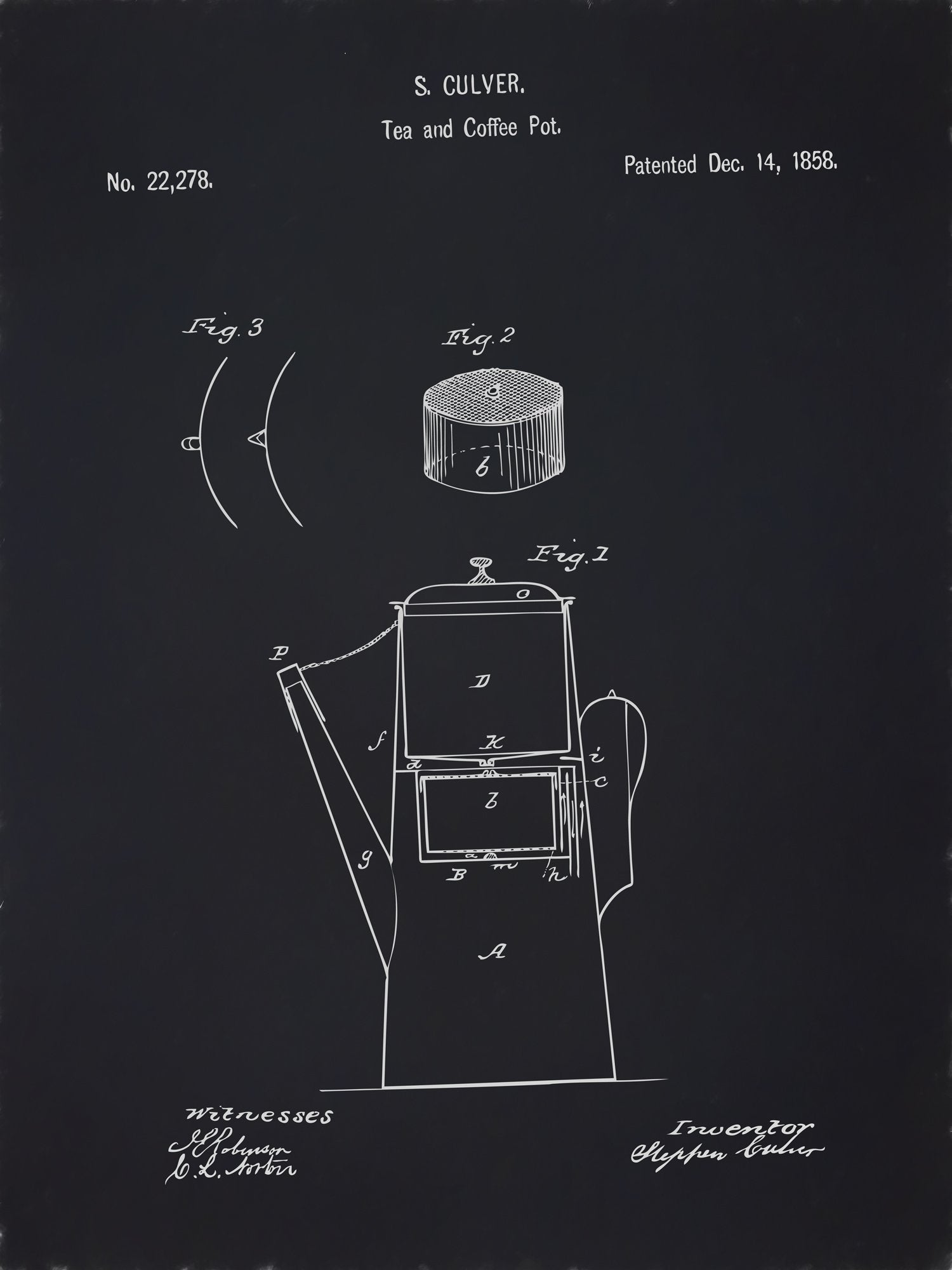 U.S. Patent No. 22278-1 Tea and Coffee Pot Reworked, Series 2