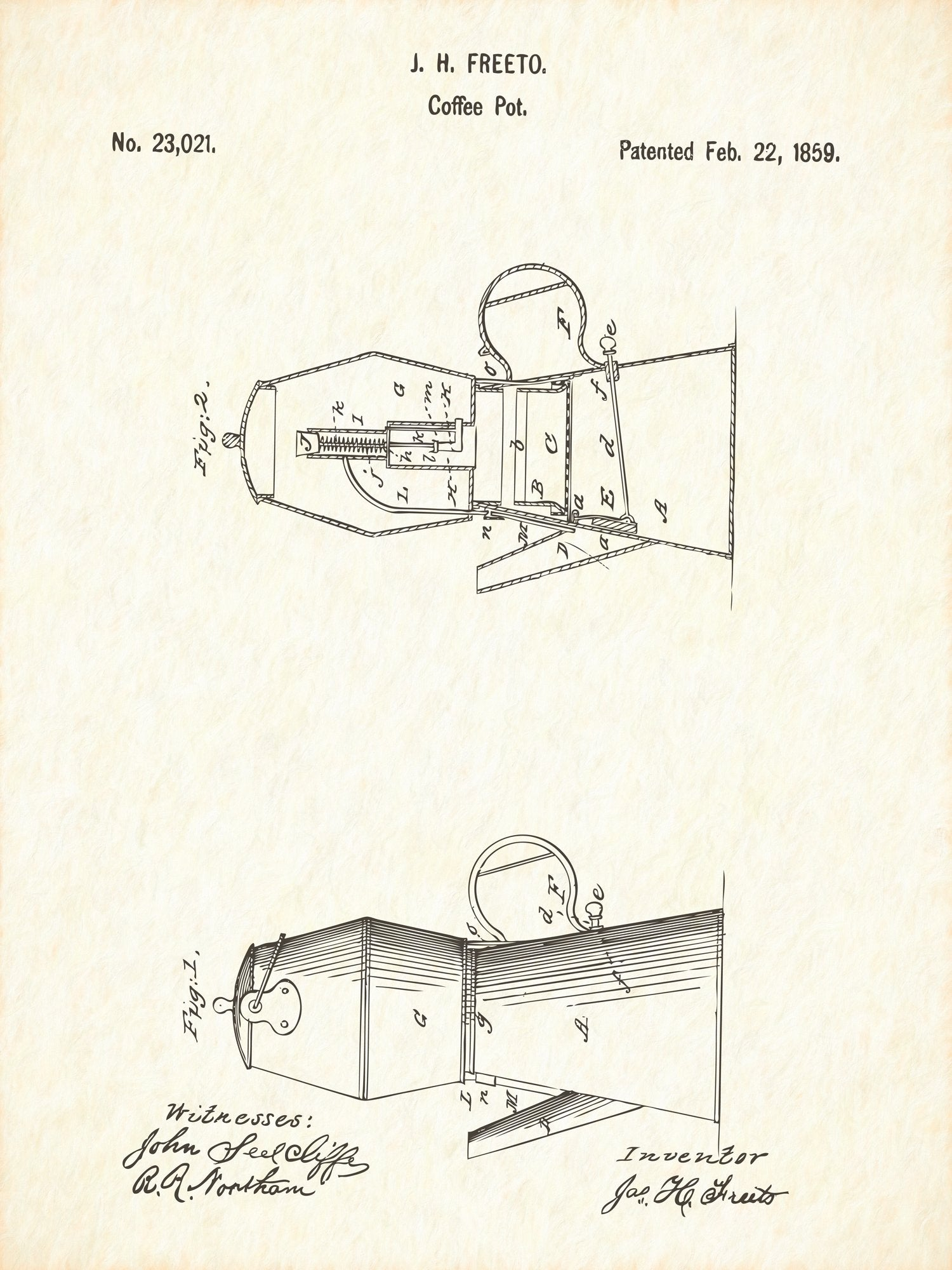 U.S. Patent No. 23021-1 Coffee Pot Reworked, Series 1