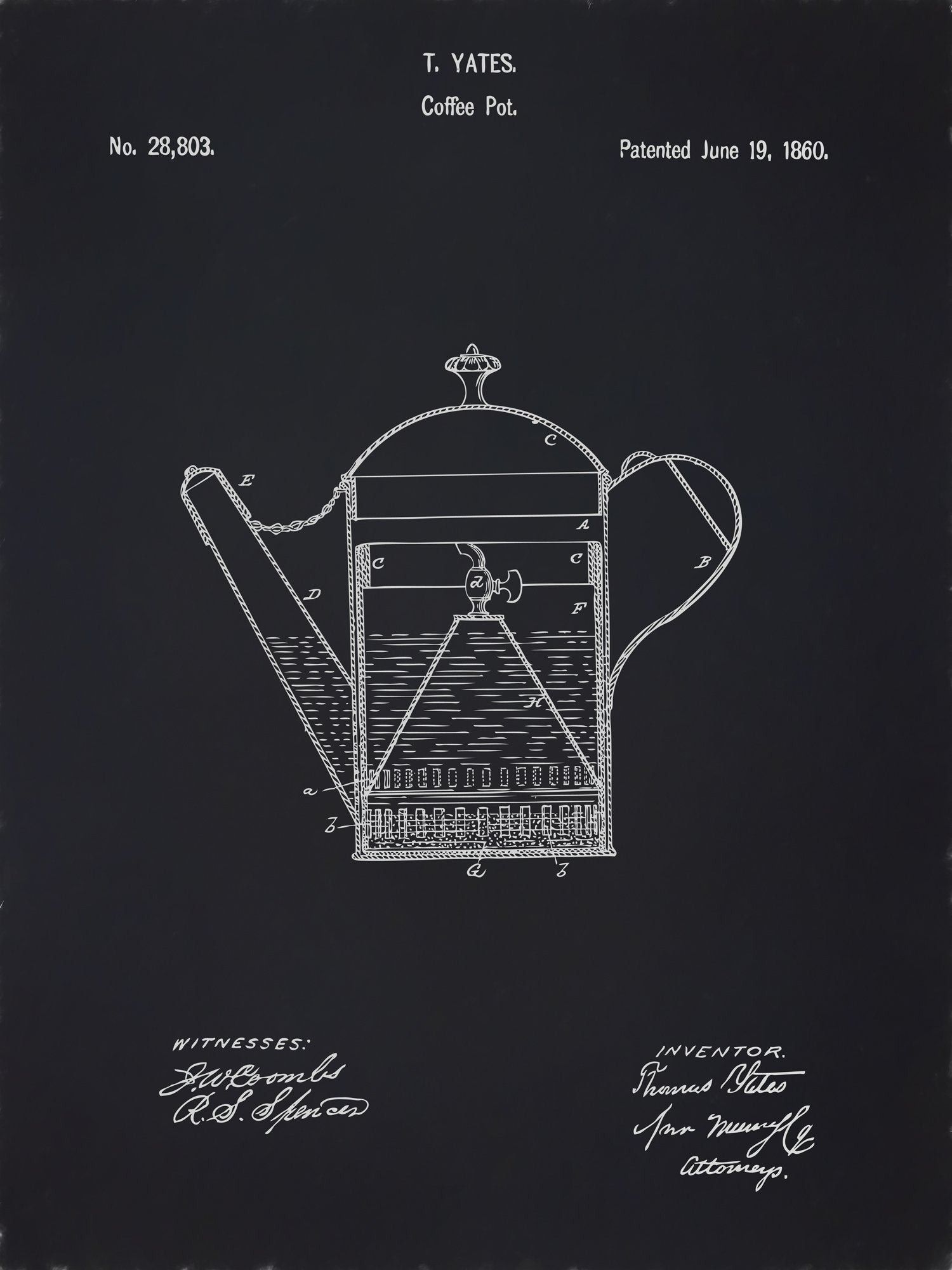 U.S. Patent No. 28803-1 Coffee Pot Reworked, Series 2