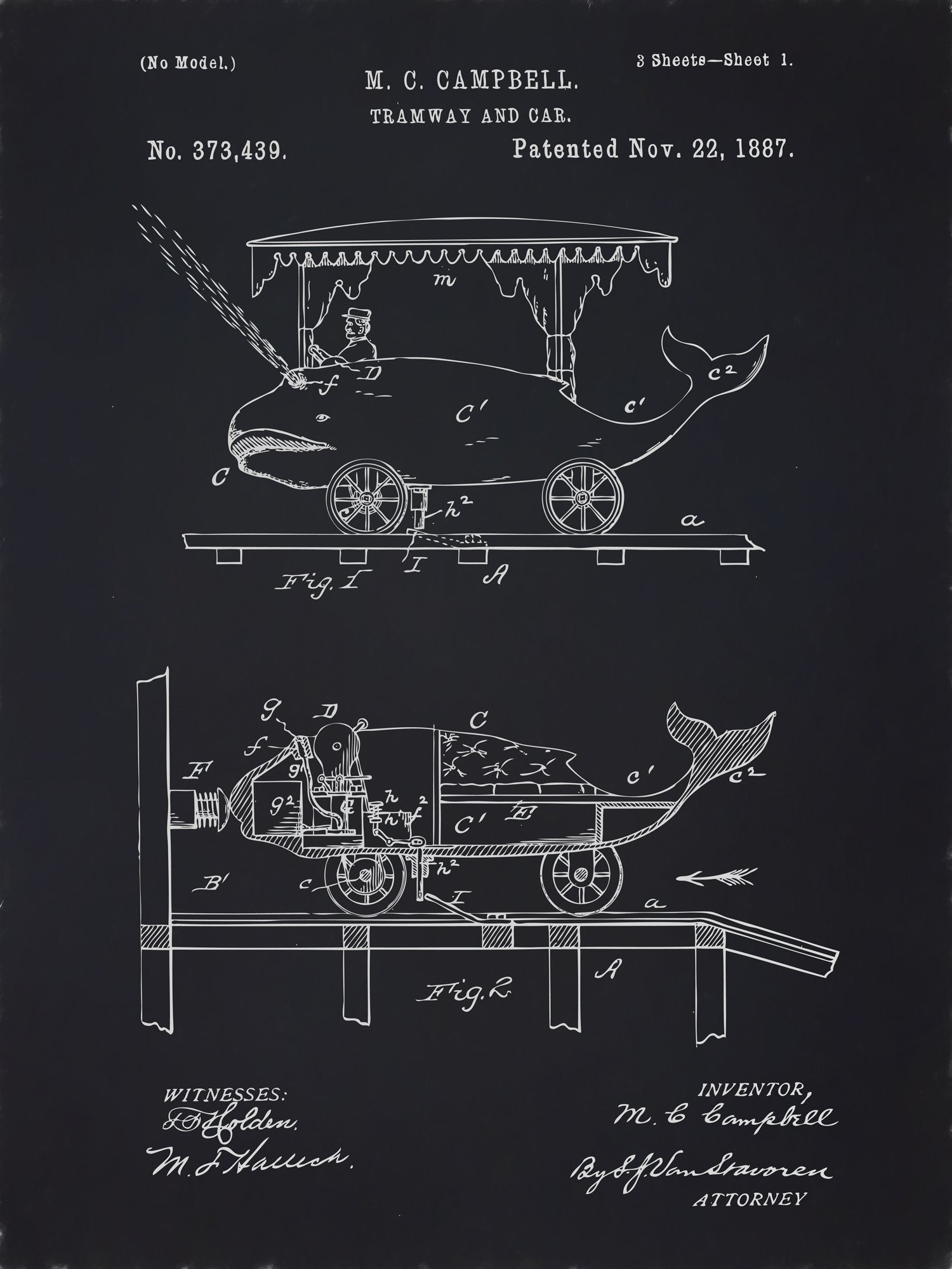 U.S. Patent No. 373439-1 Tramway and Car Reworked, Series 2