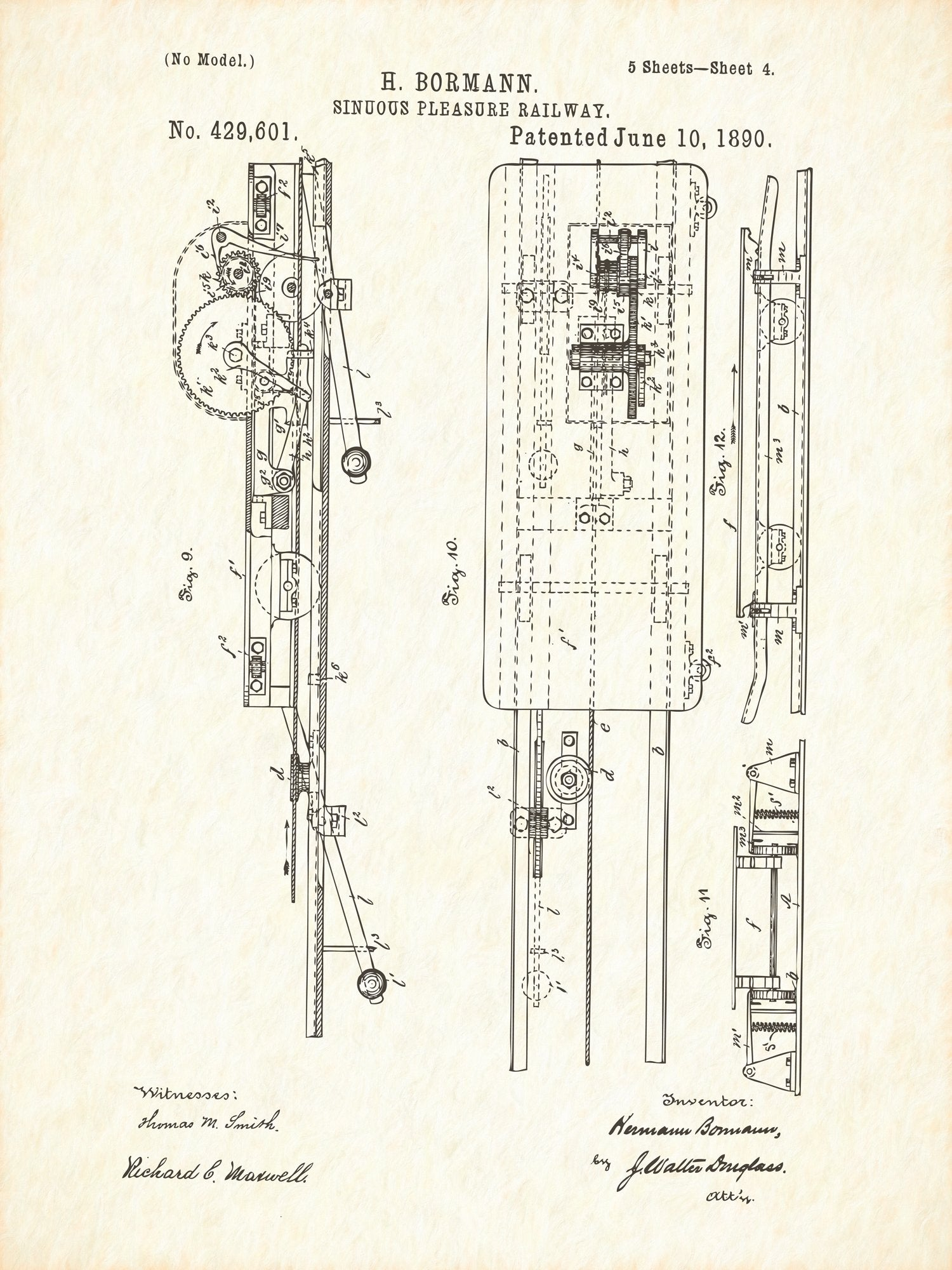 U.S. Patent No. 429601-4 Sinuous Pleasure Railway Reworked, Series 1