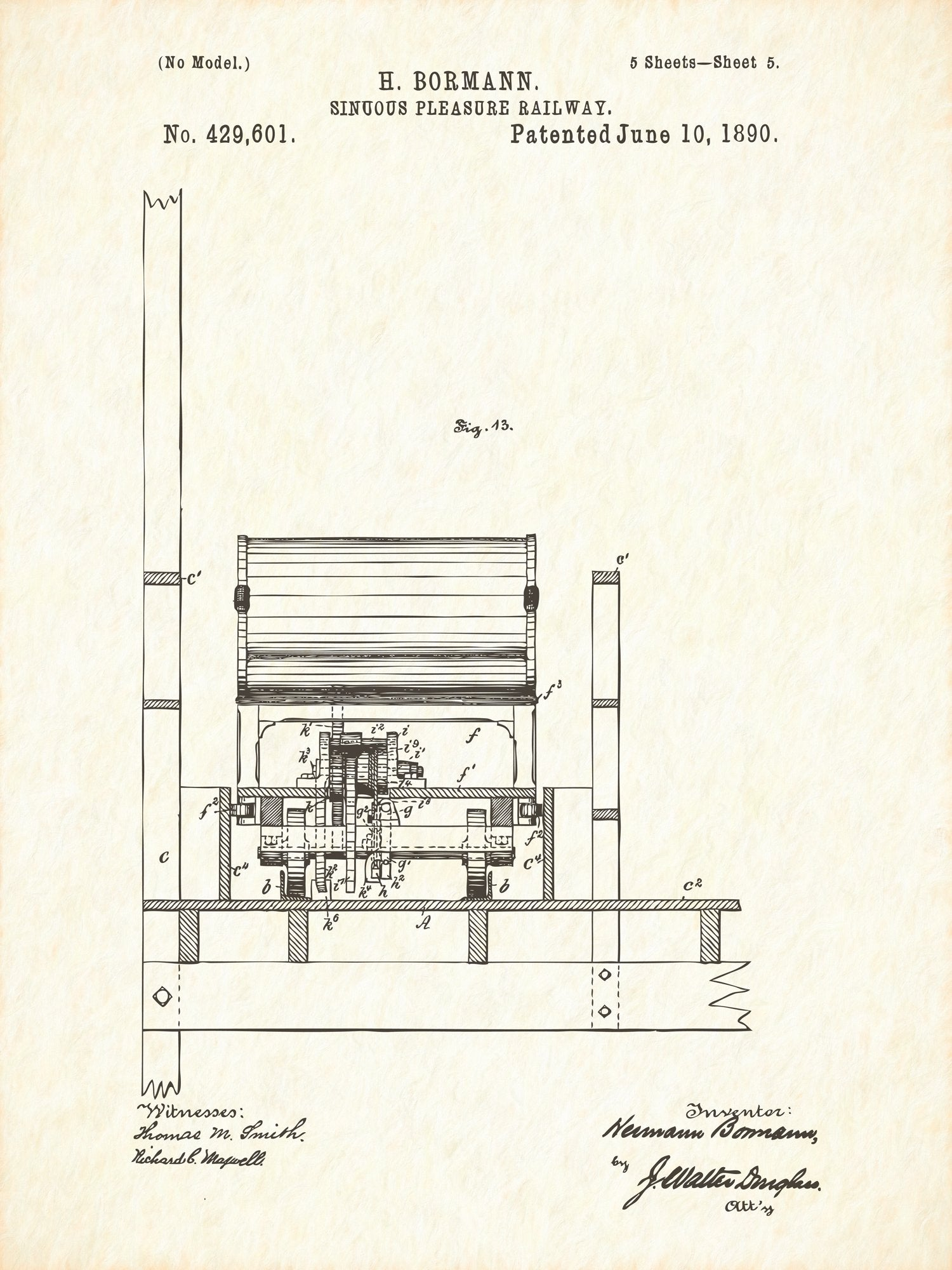 U.S. Patent No. 429601-5 Sinuous Pleasure Railway Reworked, Series 1