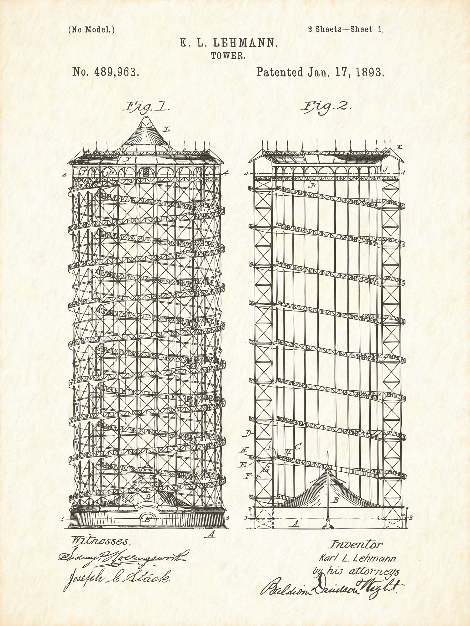 U.S. Patent No. 489963-1 Tower Reworked, Series 1