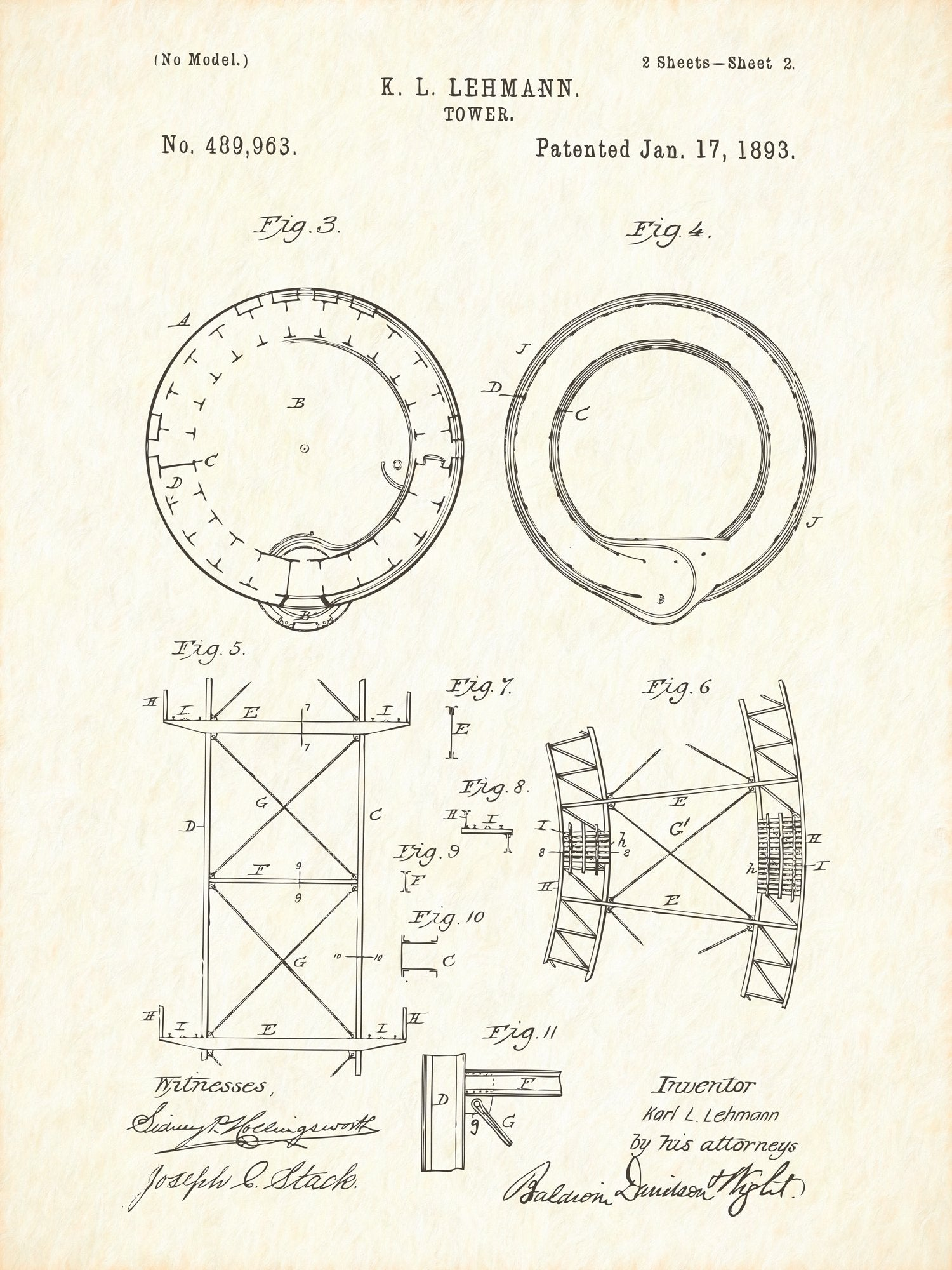 U.S. Patent No. 489963-2 Tower Reworked, Series 1