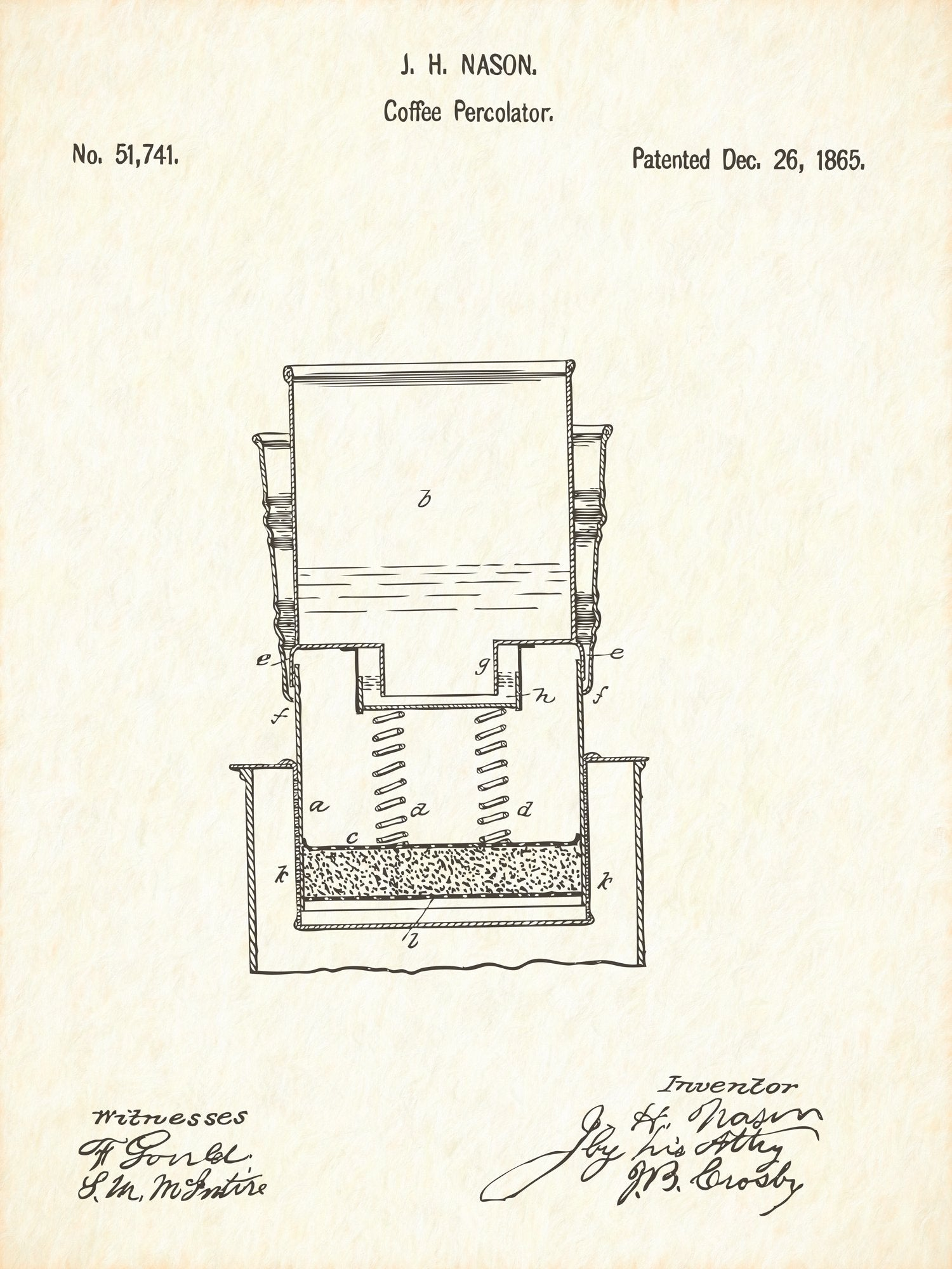 U.S. Patent No. 51741-1 Coffee Percolator Reworked, Series 1
