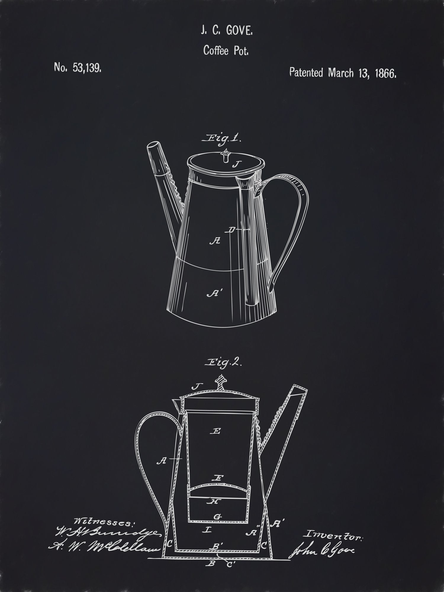 U.S. Patent No. 53139-1 Coffee Pot Reworked, Series 2