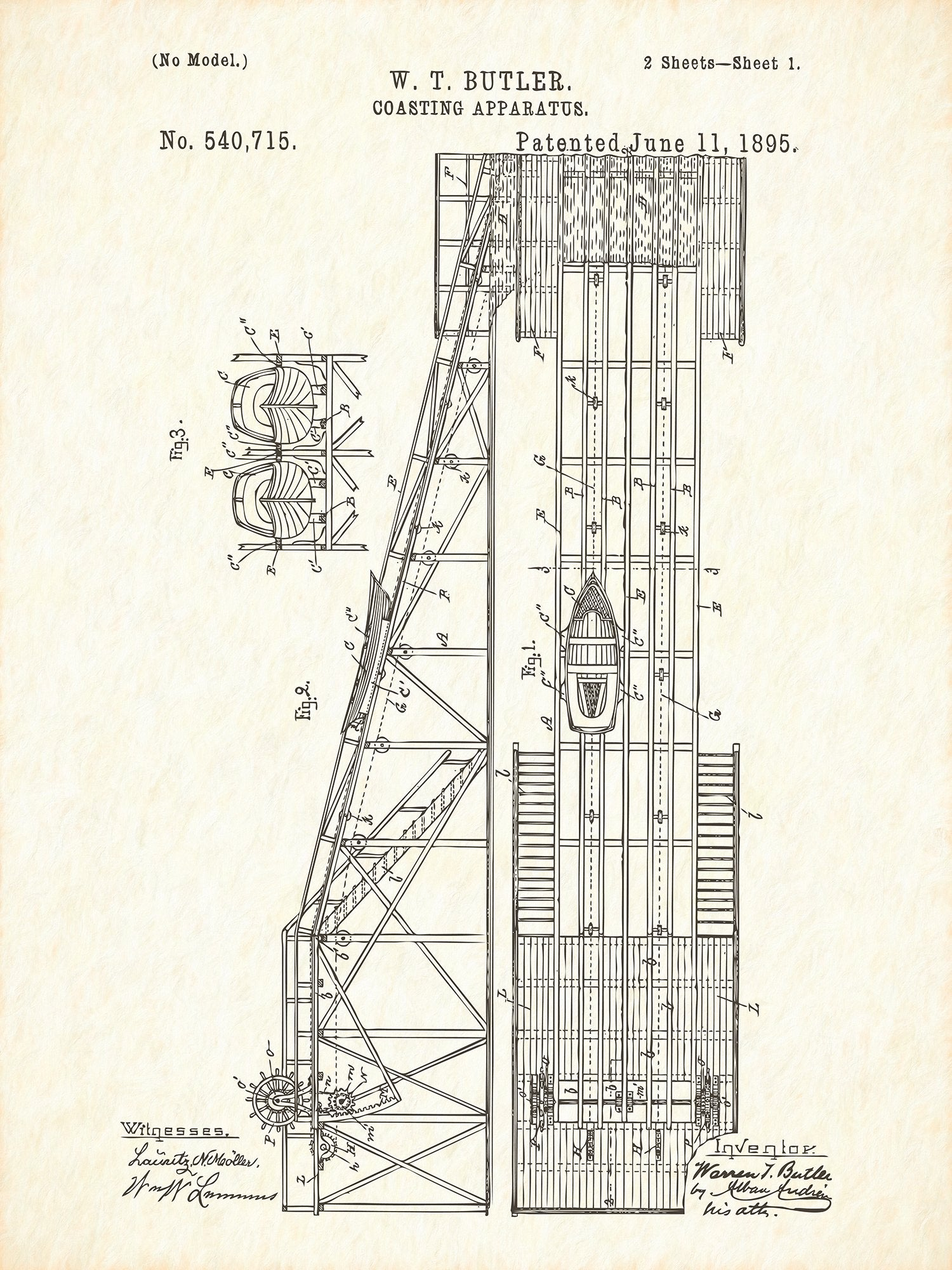 U.S. Patent No. 540715-1 Coasting Apparatus Reworked, Series 1