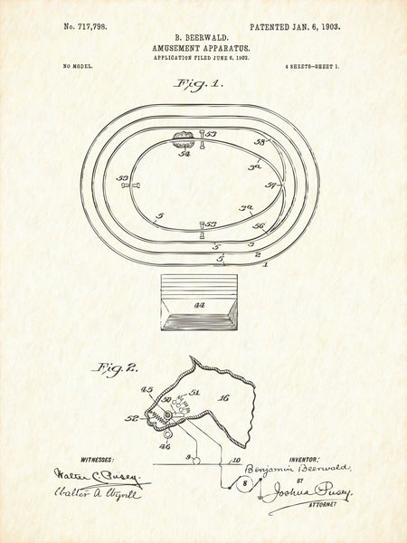 U.S. Patent No. 717798-1 Amusement Apparatus Reworked, Series 1