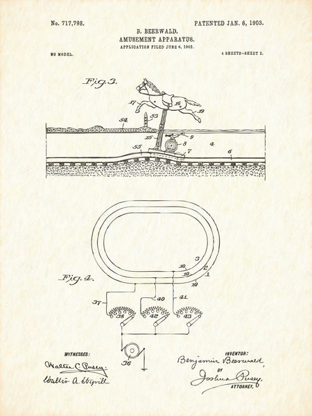 U.S. Patent No. 717798-2 Amusement Apparatus Reworked, Series 1