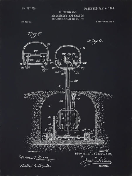 U.S. Patent No. 717798-4 Amusement Apparatus Reworked, Series 2