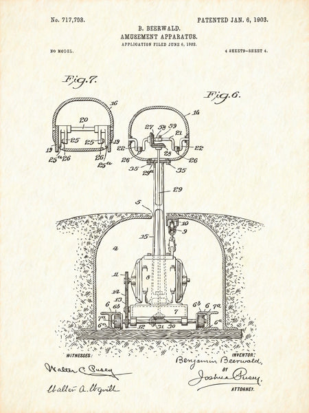 U.S. Patent No. 717798-4 Amusement Apparatus Reworked, Series 1
