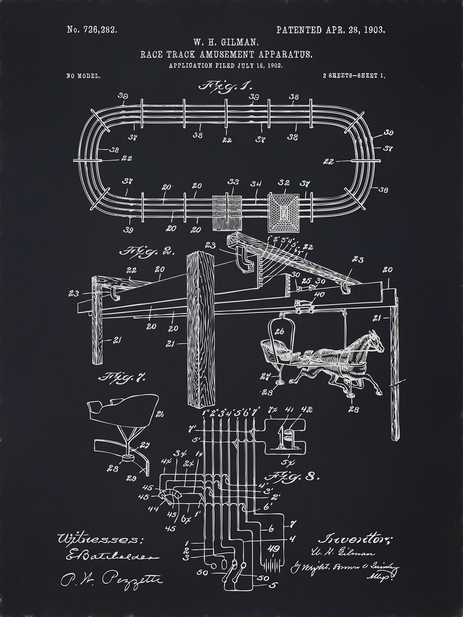 U.S. Patent No. 726282-1 Race Track Amusement Apparatus Reworked, Series 2