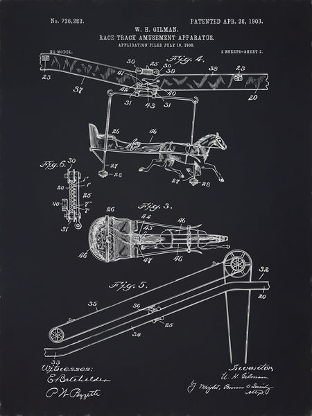 U.S. Patent No. 726282-2 Race Track Amusement Apparatus Reworked, Series 2
