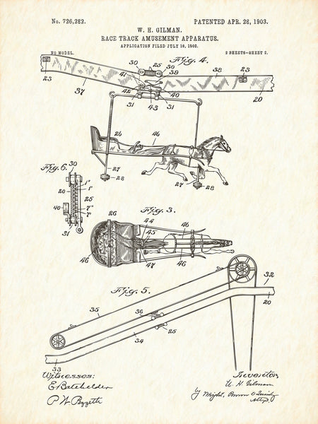 U.S. Patent No. 726282-2 Race Track Amusement Apparatus Reworked, Series 1