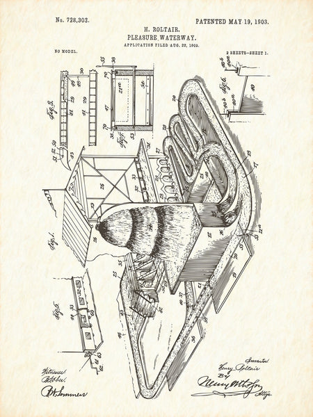U.S. Patent No. 728303-1 Pleasure Waterway Reworked, Series 1