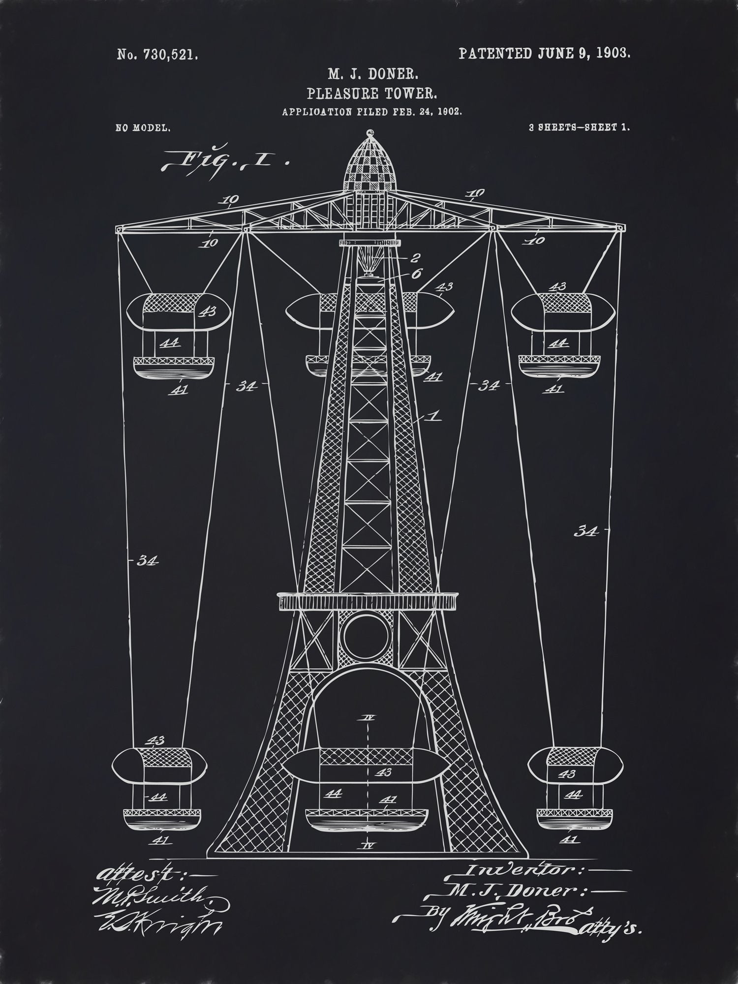 U.S. Patent No. 730521-1 Pleasure Tower Reworked, Series 2
