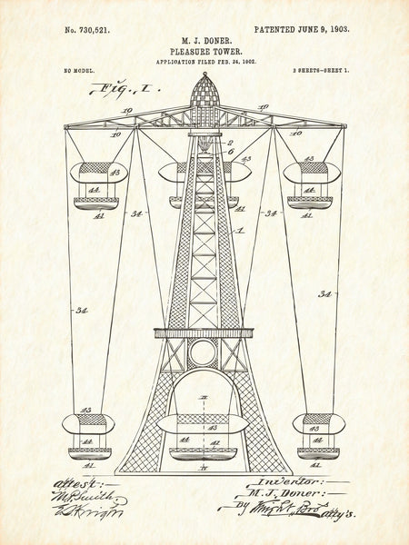 U.S. Patent No. 730521-1 Pleasure Tower Reworked, Series 1