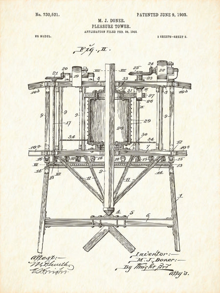 U.S. Patent No. 730521-2 Pleasure Tower Reworked, Series 1