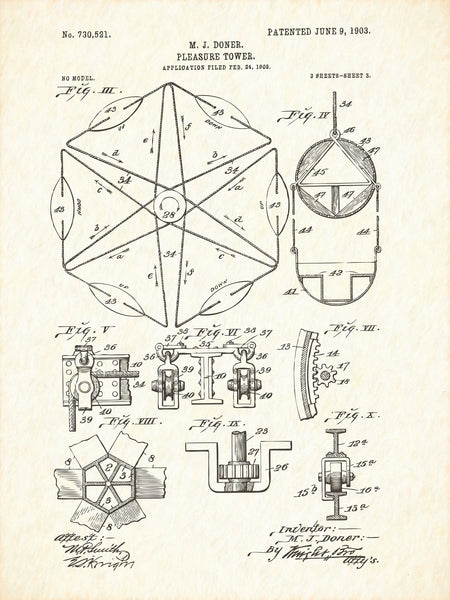 U.S. Patent No. 730521-3 Pleasure Tower Reworked, Series 1