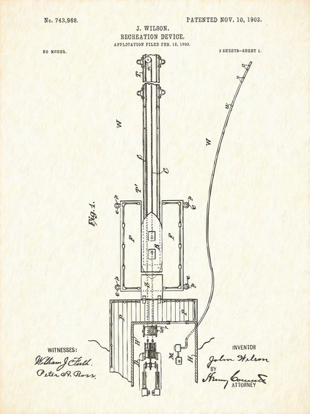 U.S. Patent No. 743968-1 Recreation Device Reworked, Series 1
