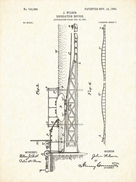 U.S. Patent No. 743968-2 Recreation Device Reworked, Series 1