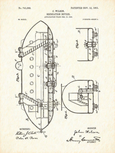 U.S. Patent No. 743968-3 Recreation Device Reworked, Series 1