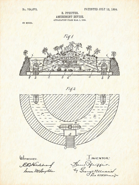 U.S. Patent No. 764675-1 Amusement Device Reworked, Series 1
