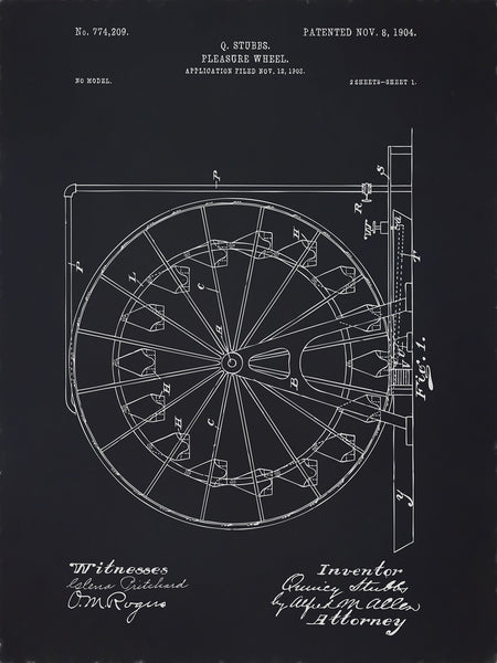U.S. Patent No. 774209-1 Pleasure Wheel Reworked, Series 2