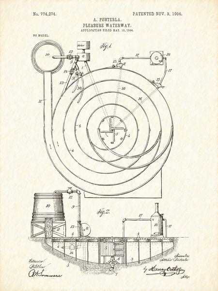 U.S. Patent No. 774274-1 Pleasure Waterway Reworked, Series 1