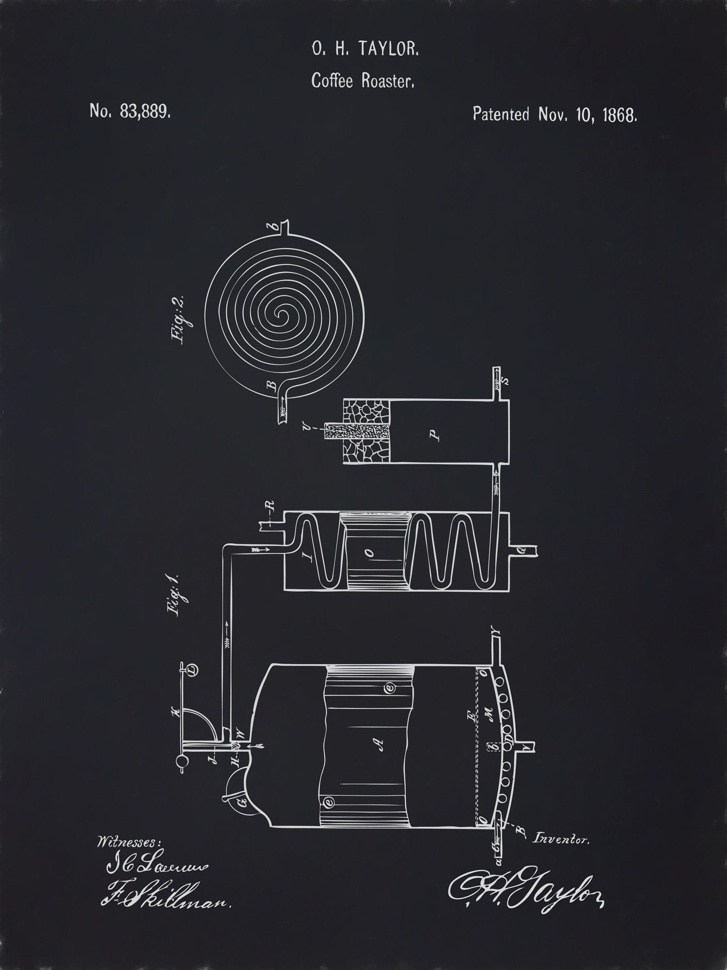 U.S. Patent No. 83889-1 Coffee Roaster Reworked, Series 2