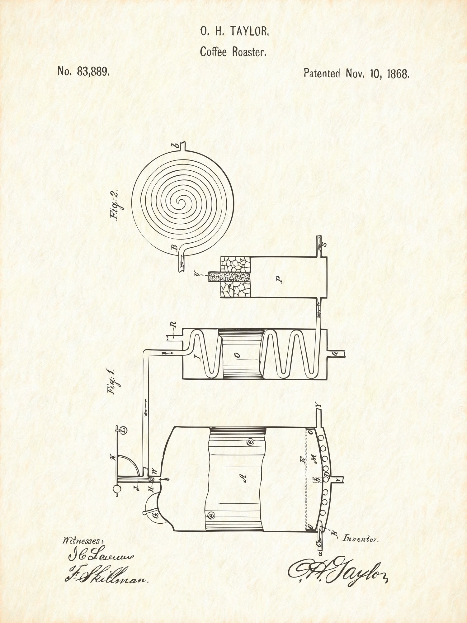 U.S. Patent No. 83889-1 Coffee Roaster Reworked, Series 1