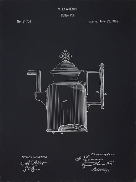 U.S. Patent No. 91754-1 Coffee Pot Reworked, Series 2