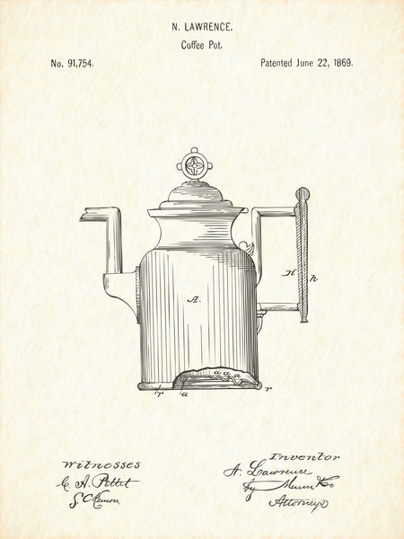 U.S. Patent No. 91754-1 Coffee Pot Reworked, Series 1