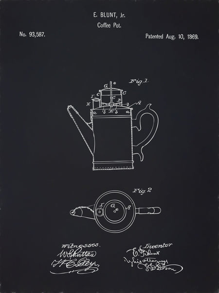 U.S. Patent No. 93587-1 Coffee Pot Reworked, Series 2