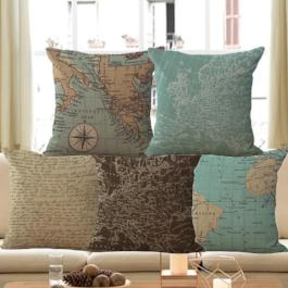 World map pillow ava pillow world map pillow world map pillow gumiabroncs Image collections