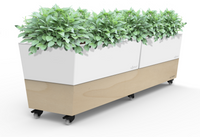 White Cafe Self Watering Planter Boxes