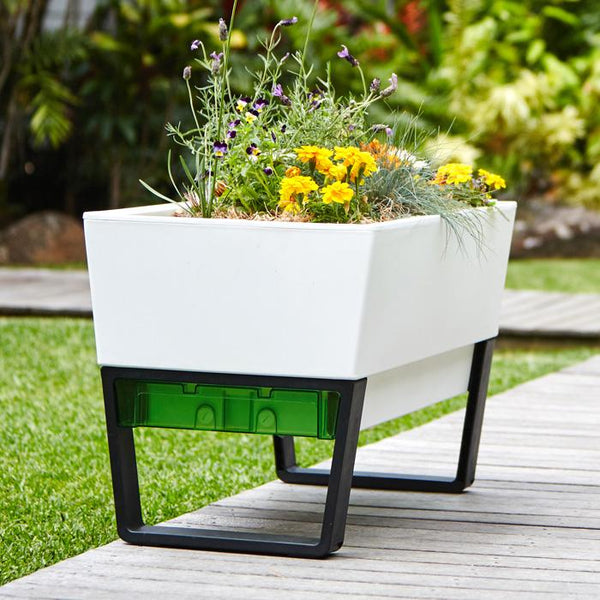 Tiered Contemporary Urban Garden: Modern Planters For A Stylish