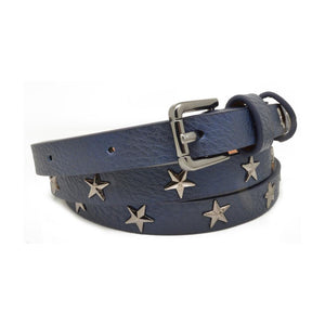 Navy Star Studded Belt