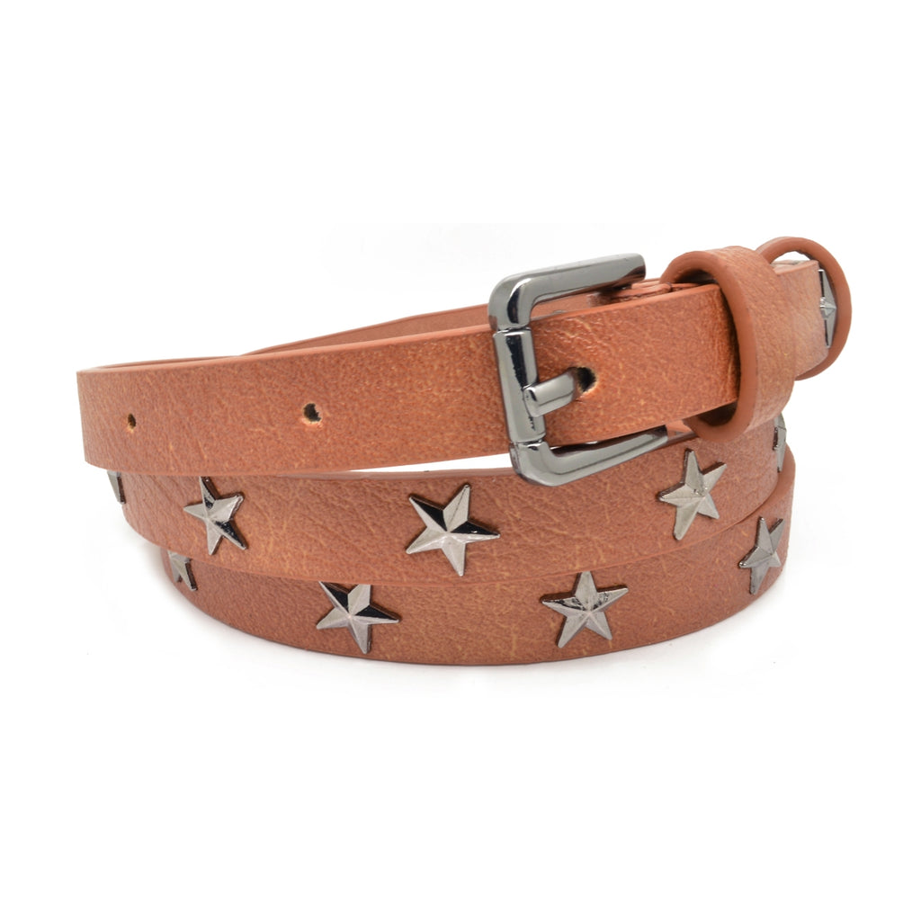 Tan Star Studded Belt