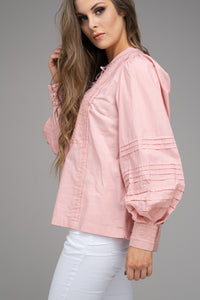 Dusty Pink Embroidered Blouse