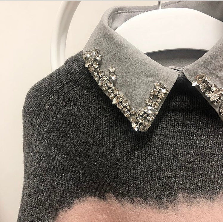 Grey Molly Collar Bib
