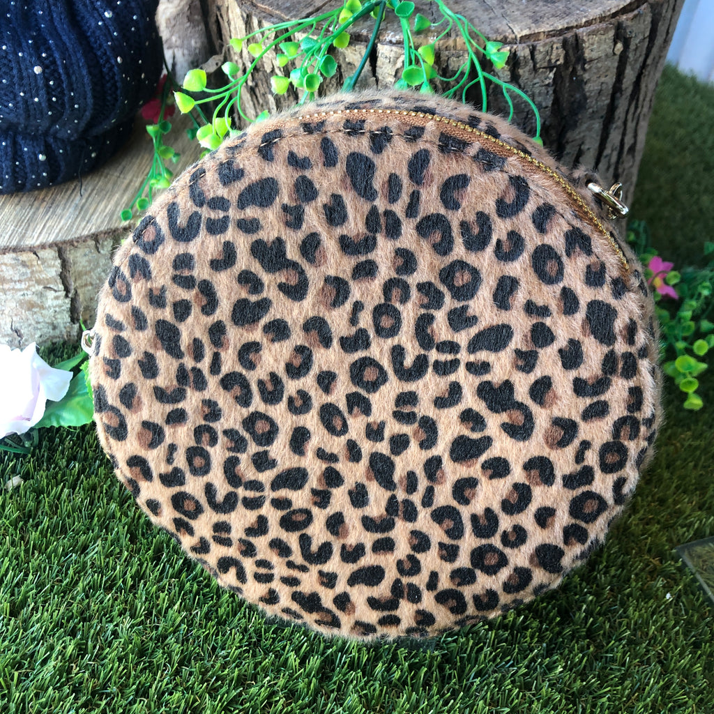 Leopard Circle Cross-body Bag