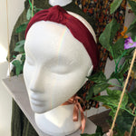 Burgundy Knotted Hairband