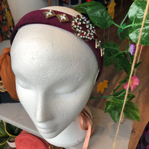 Burgundy Embellished Hairband