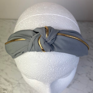 Grey Knotted Hairband