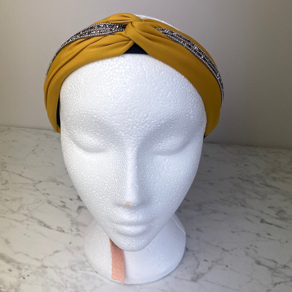 Mustard Jewelled Hairband